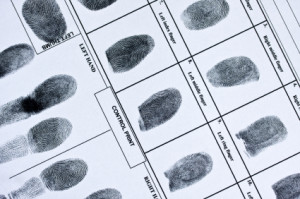 FBI fingerprint card